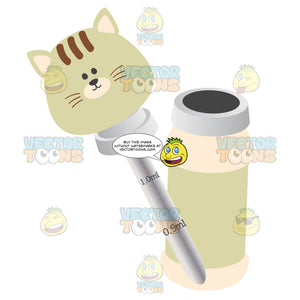 Glass Liquid Baby Medicine Dropper With Kitty Head And Bottle