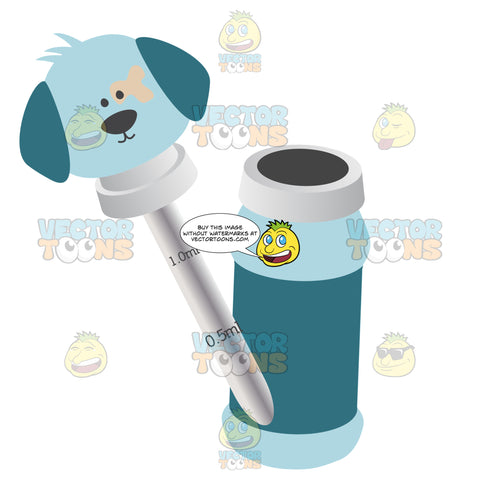 Glass Liquid Baby Medicine Dropper With Puppy Head And Blue Bottle