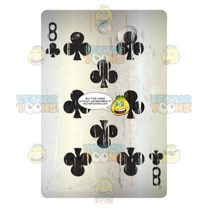 Worn Black Eight Of Clubs Playing Card
