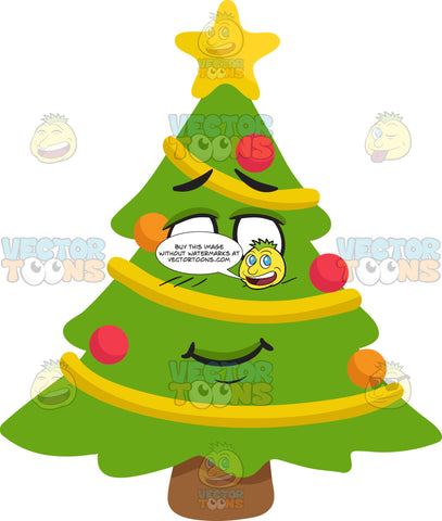 A Bashful Christmas Tree
