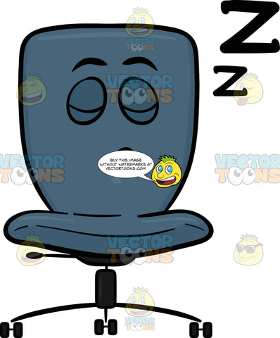 Swivel Desk Chair Sleeping Soundly