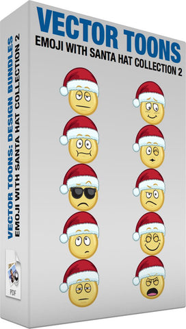 Emoji With Santa Hat Collection 2