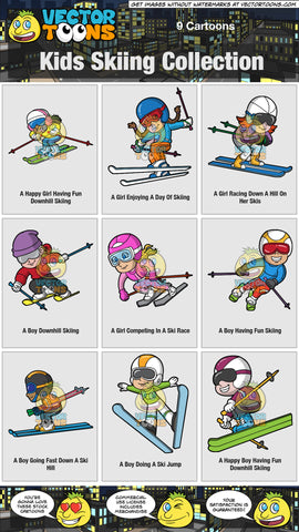 Kids Skiing Collection
