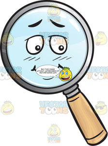 Bashful Magnifying Glass Emoji