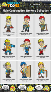 Male Construction Workers Collection