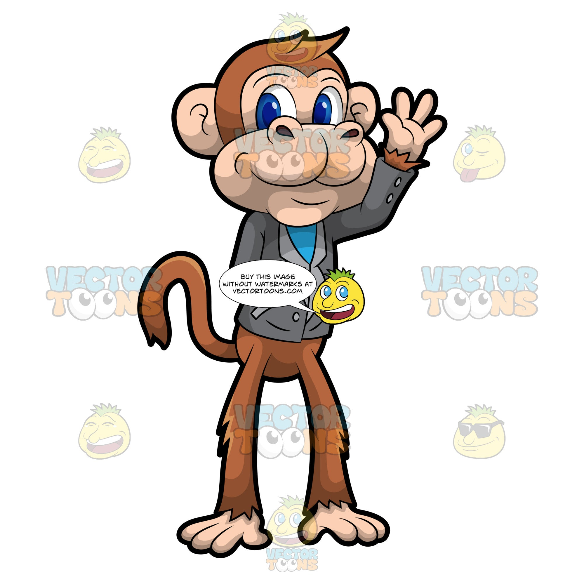 Martin The Monkey Waving Hello