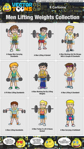 Men Lifting Weights Collection