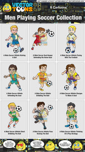 Men Playing Soccer Collection