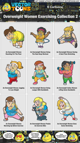 Overweight Women Exercising Collection 2