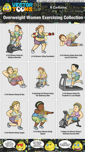 Overweight Women Exercising Collection