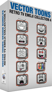 Retro Tv Emoji Collection 4