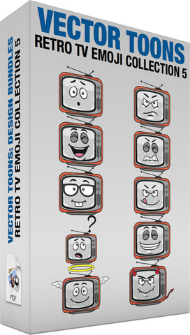Retro Tv Emoji Collection 5