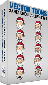 Santa Emoji Collection 4