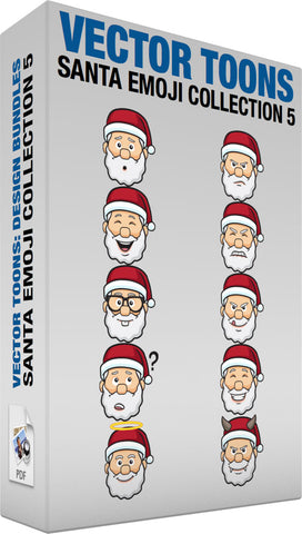Santa Emoji Collection 5