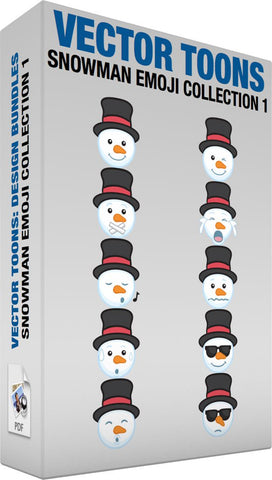 Snowman Emoji Collection 1