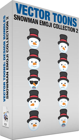 Snowman Emoji Collection 2