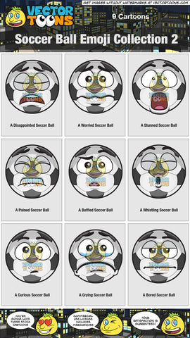 Soccer Ball Emoji Collection 2