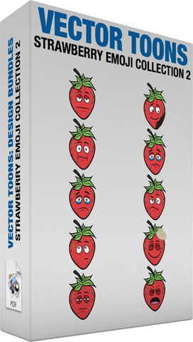 Strawberry Emoji Collection 2