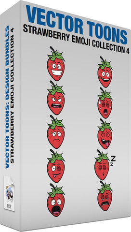 Strawberry Emoji Collection 4