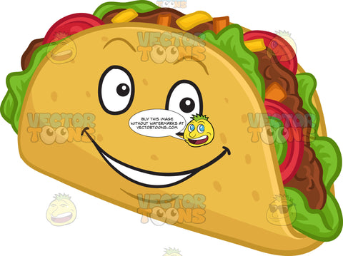 An Bright And Happy Hard Shell Taco Snack