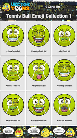 Tennis Ball Emoji Collection 1