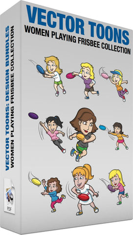 Women Playing Frisbee Collection
