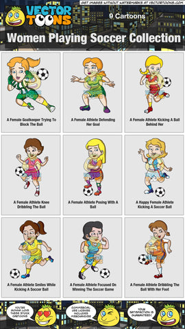 Women Playing Soccer Collection