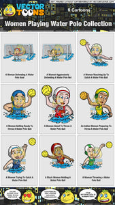 Women Playing Water Polo Collection