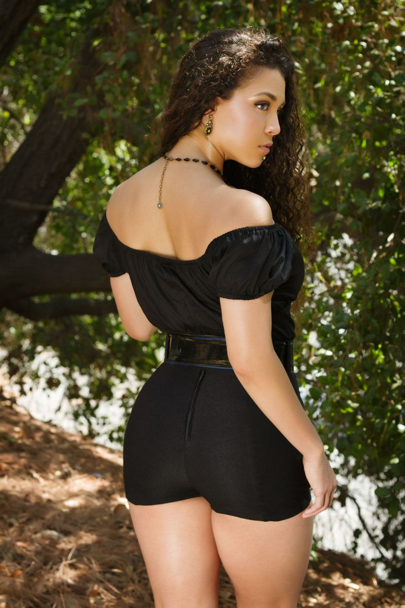 Traci Lords for Couture for Every Body Allison Shorts in Black Bengaline