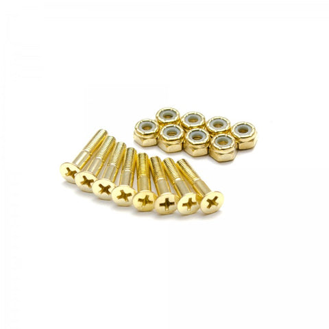 THESPEAKEASY - Gold Phillips Skateboard Hardware