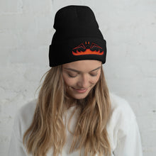 "Load image into Gallery viewer, Black Dragon Fire - 12"" Cuffed Beanie"