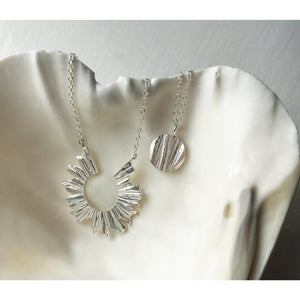 Moon Necklace - Silver