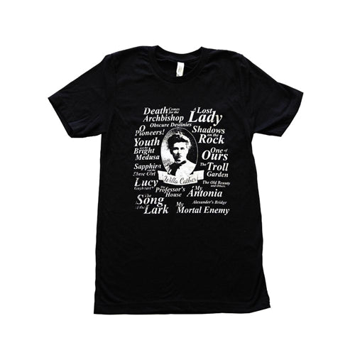 Willa Cather Black T-shirt by The Willa Cather Foundation