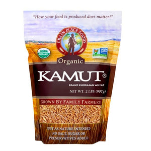 Grain Place Foods Non-GMO Organic Kamut Khorasan Wheat 2lb Bag