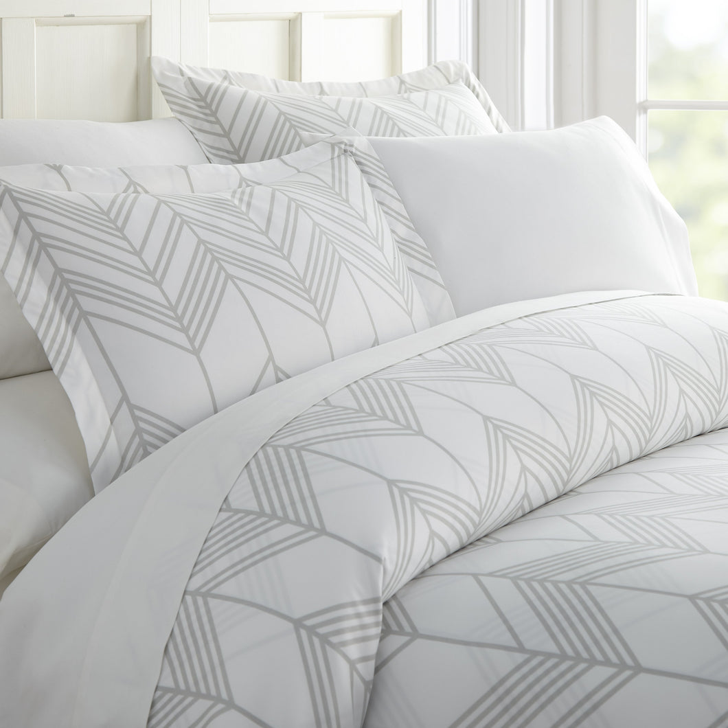 Comforters, Alps Chevron Patterned 3-Piece Duvet Cover Set, Linens And Hutch