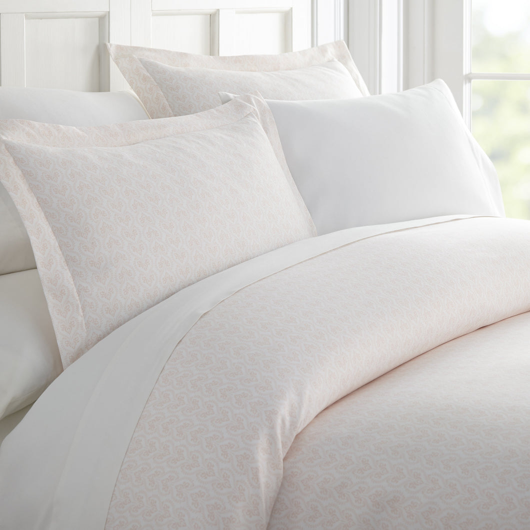 Comforters, Classic in Pink Patterned 3-Piece Duvet Cover Set, Linens And Hutch