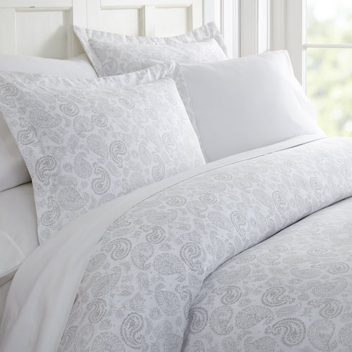 Coarse Paisley Patterned 3-Piece Duvet Cover Set - Comforters - Linens and Hutch