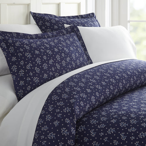 Comforters, Midnight Blossoms Patterned 3-Piece Duvet Cover Set, Linens And Hutch
