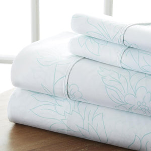 Vines Patterned 4-Piece Sheet Set - Sheets - Linens and Hutch
