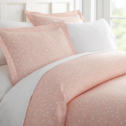 Comforters, Pink Buds Patterned 3-Piece Duvet Cover Set, Linens And Hutch