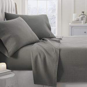 4-Piece Essential Flannel Sheet Set - Sheets - Linens and Hutch