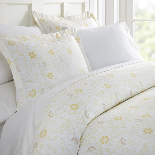 Spring Vine Patterned 3-Piece Duvet Cover Set - Comforters - Linens and Hutch