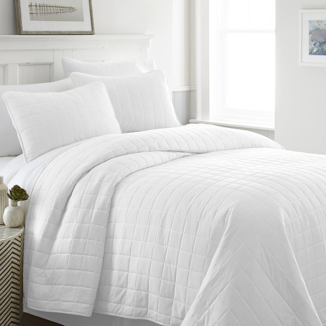 3-Piece Square Quilted Coverlet Set - Comforters - Linens and Hutch