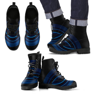 Men's Leather Boots Blue Void