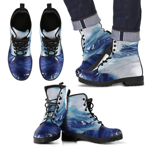 Men's Leather Boots Deeply Blue