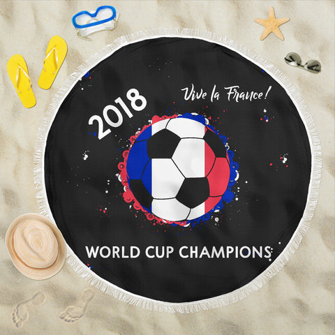 France 2018 World Cup Champions Beach Blanket