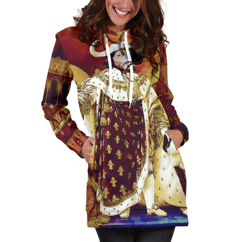 Women's Hoodie Dress - Renaissance Remorphed (Louis XVIII)