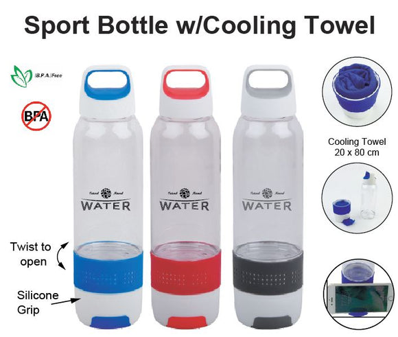 Sport Bottle with Cooling Towel - Tredan Connections