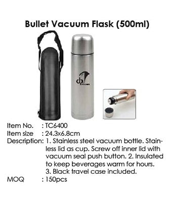 Bullet Vacuum Flask (500ml) - Tredan Connections
