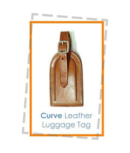 Curve Leather Luggage Tag - Tredan Connections